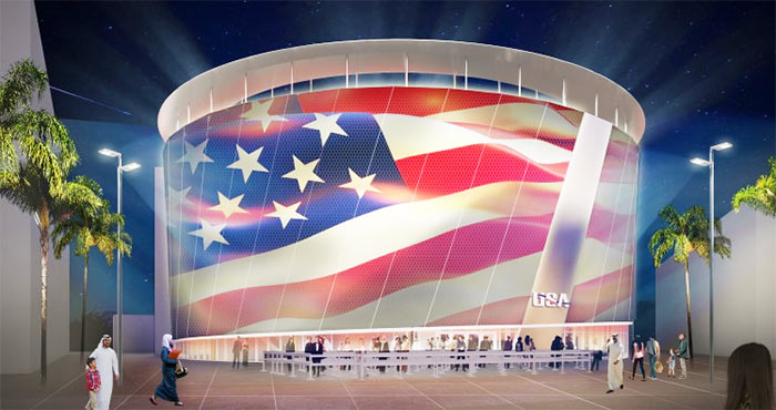 US Pavilion in Dubai EXPO 2020 is Sponsored by the UAE Government