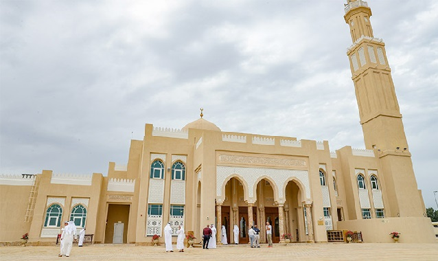 Reopening guidelines displayed outside Dubai Mosques