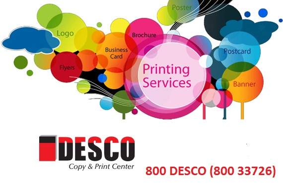 Desco copy print center printing press dubai business cards printing printing services in dubai and abu dhabi reheart Gallery