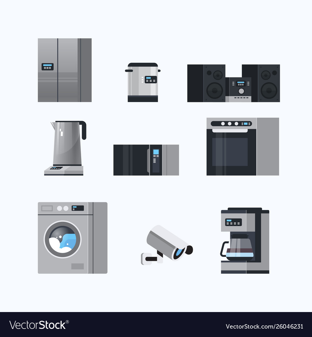 set-different-home-appliances-electric-house-vector-26046231
