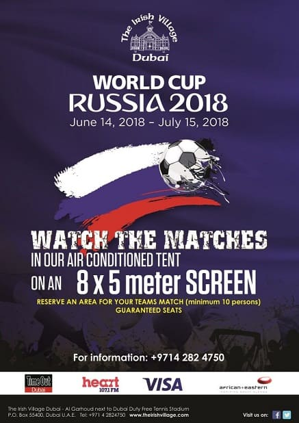 FIFA 2018 World Cup at The Irish Village