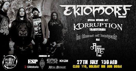 Bringing the Aggression: Ektomorf Live in Dubai 2018!