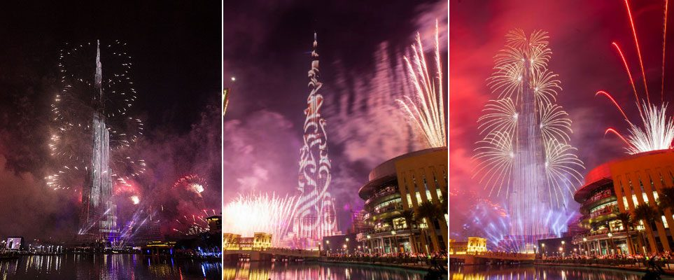 ​New Year's Eve Fireworks at Burj Khalifa