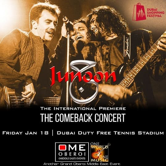 Junoon Reunion Concert in Dubai Entertainment Dubai