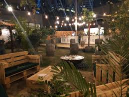 Garden themed pop-up bar