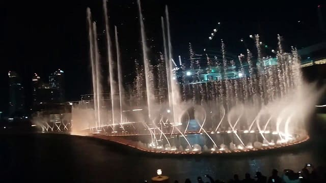 Sing along at a limited-time fountain show