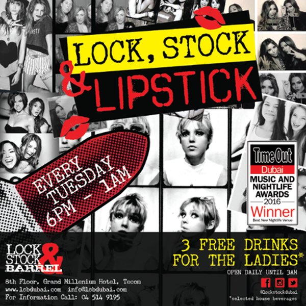 Lock, Stock & Lipstick Ladies Night at LSB, Dubai
