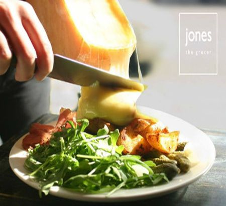 Raclette Cheese and Grape nights at jones the grocer