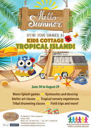 Kids Cottage Tropical Island summer camp