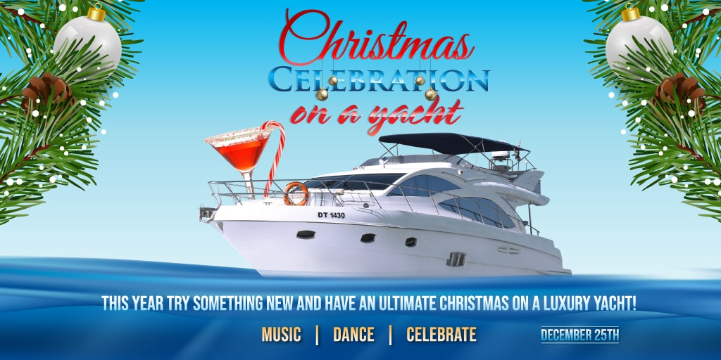 Christmas Celebration on a Luxury Yacht