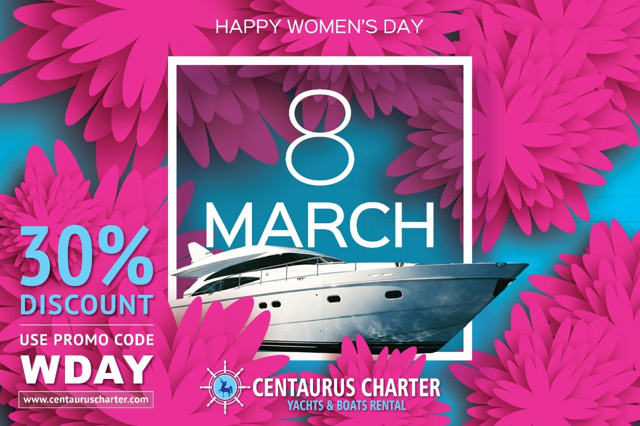 Celebrate Womens Day - 30% Off Luxury Yacht in Dubai