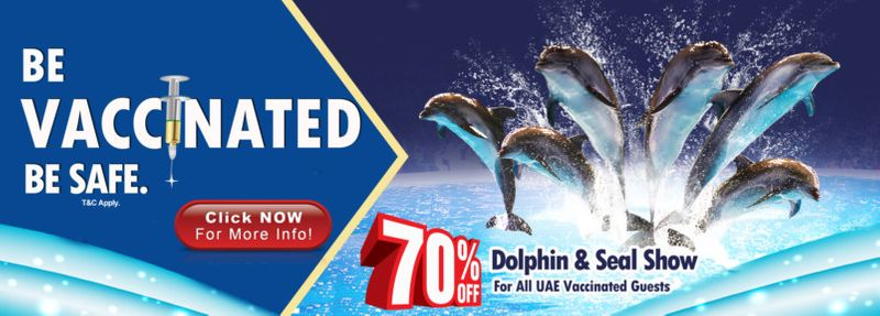 Dubai Dolphinarium give discount to vaccinated visitors
