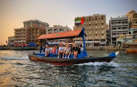 Cross Dubai Creek in new wooden abra for Dh2