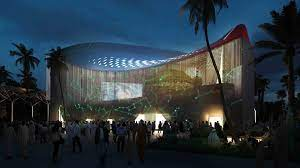 Smart light installation at Expo 2020 Italian pavilion