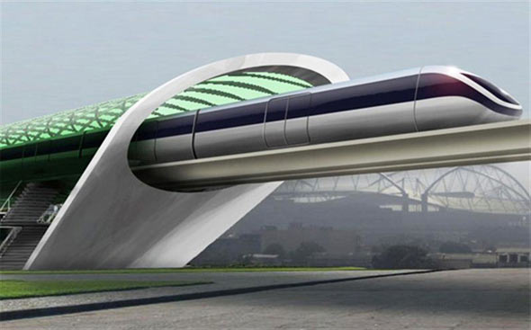 New 500mph Hyperloop Train between Dubai and Abu Dhabi