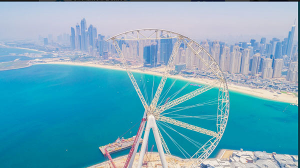 World's largest observation wheel gets underway in Dubai