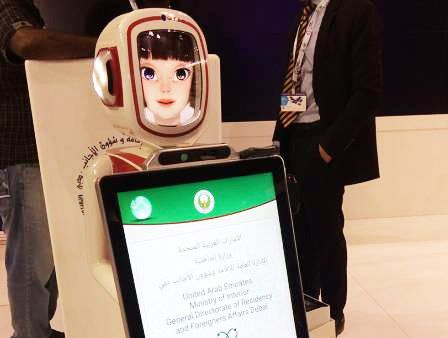 Now, visas for arrival and renewal, handled by robots at Dubai Airport