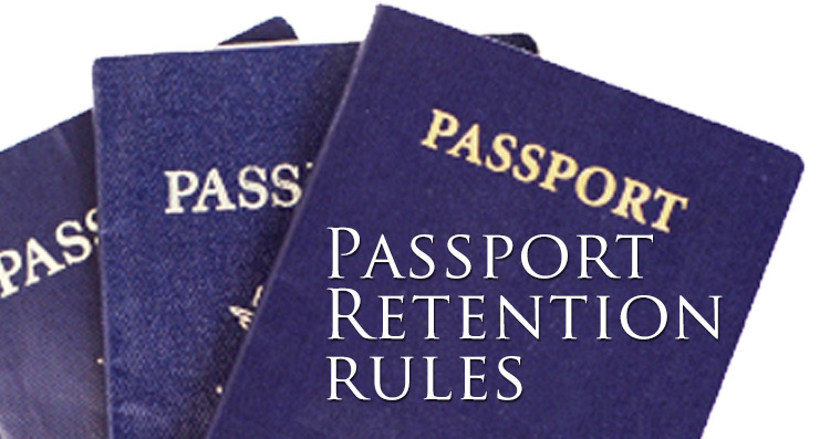 passport retention rules